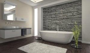piastrelle per decorare il bagno in pietra naturale