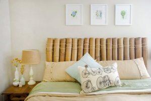 testata del letto in bambù