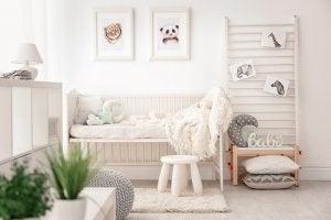 Camera per bambini panna
