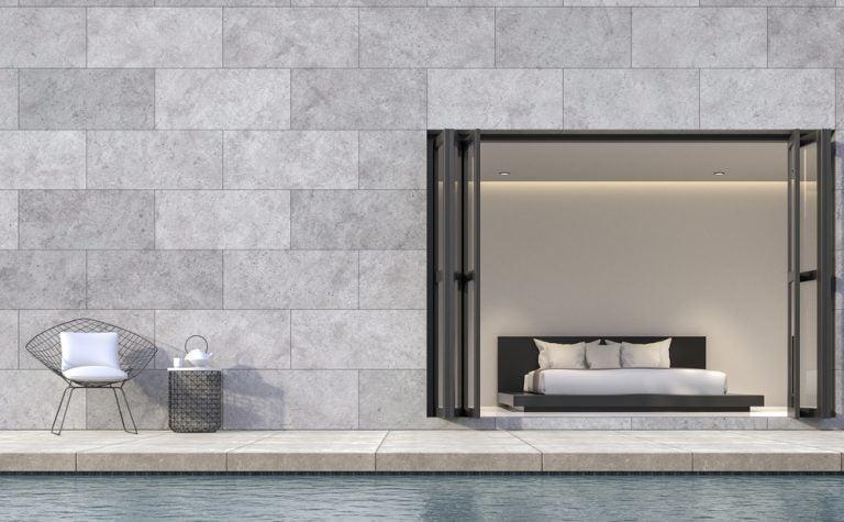 muro in cemento lucino per esterni
