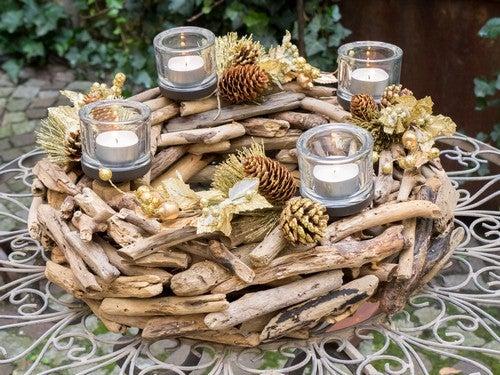 Centrotavola in legno