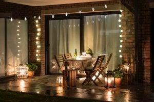 Illuminazione per terrazza.