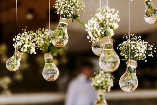 Lampadine con fiori