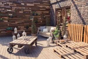 idee per decorare la vostra terrazza con i pallets