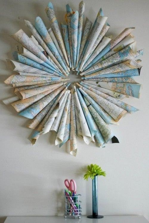 Origami creato con le mappe