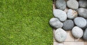 Prato artificiale per la terrazza.