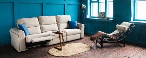 Salotto vintage azzurro