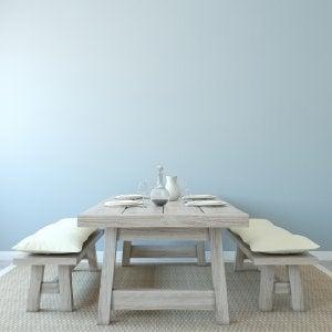 Un esempio di tavolo rustico