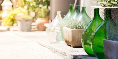 Le damigiane per decorare la vostra terrazza