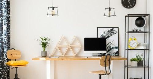Decorazione e arredamento per un ufficio in casa