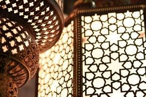 Lampada in stile arabo