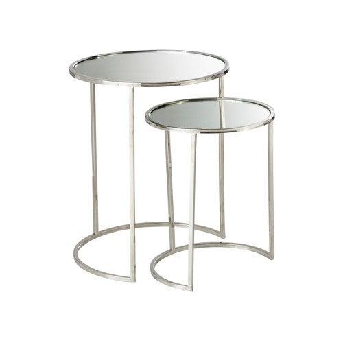 Tavolini con superficie a specchio