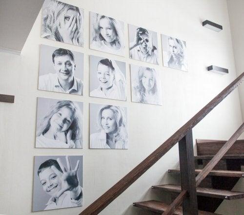 Decorare le pareti con foto di famiglia: per gli amanti dei ricordi
