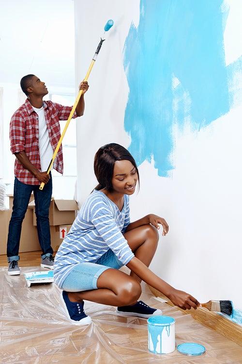 Dipingere il vostro appartamento: 4 modi creativi