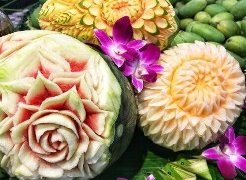 Mukimono, l'intaglio vegetale per decorare la tavola