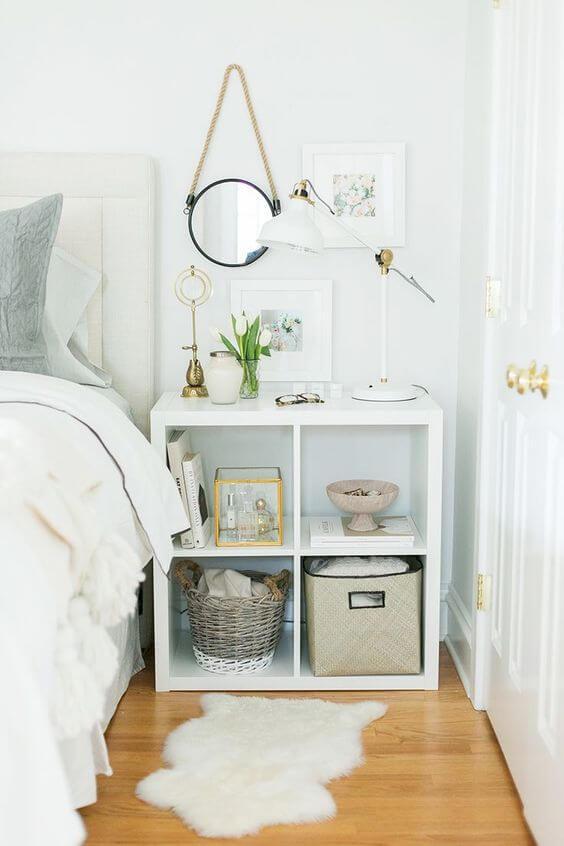 libreria per la camera da letto