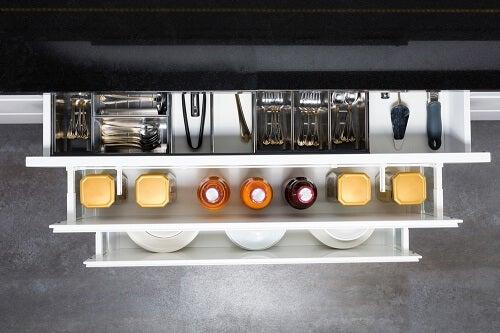mobile da cucina aperto