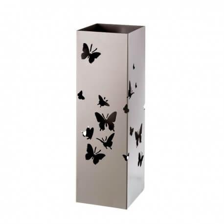 portaombrelli in metallo con farfalle