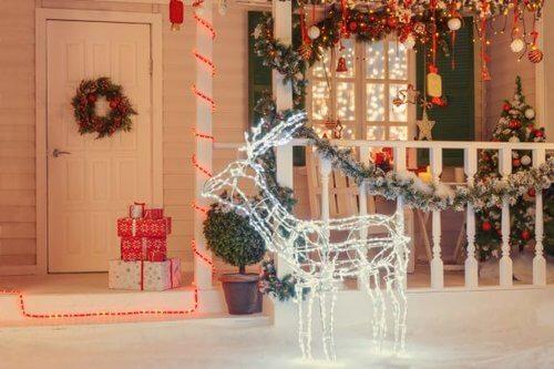 Come decorare la terrazza a Natale