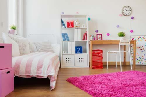 Camera per bambina tuta rosa