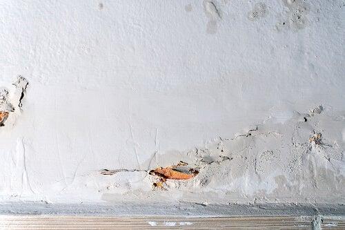 Esempio di umidità nei muri
