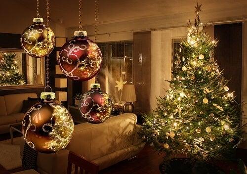 Salotto decorato per il Santo Natale