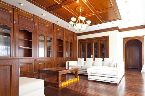 Libreria salotto in legno