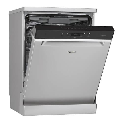 Una lavastoviglie Whirpool grigia