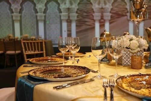 La biancheria da tavola per una cena di gala