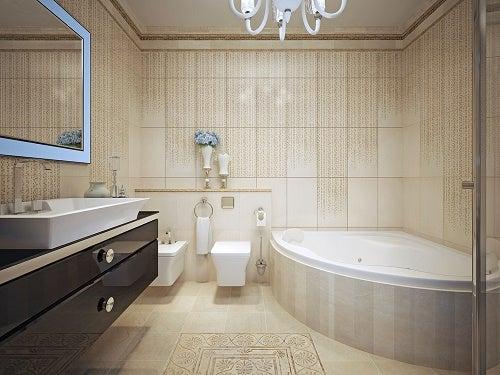 Un bagno moderno completo