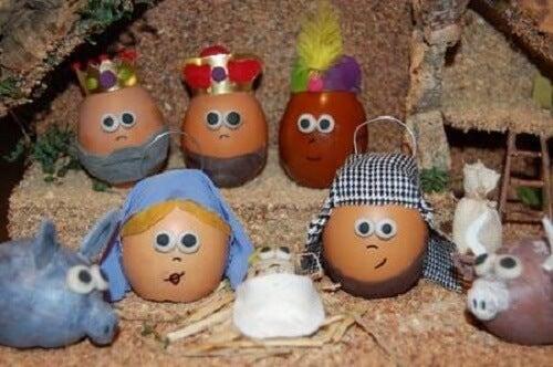 Potete fare il presepe con le uova