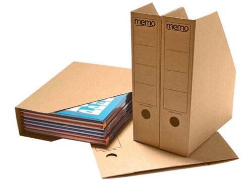 Cartelline fatte con scatole di cartone