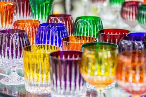 Bicchieri cristallo di Boemia