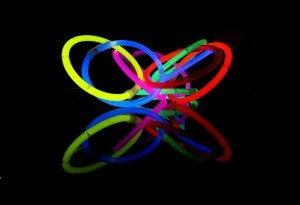 braccialetti fluorescenti per barattoli che brillano al buio