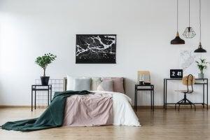camera da letto con poster