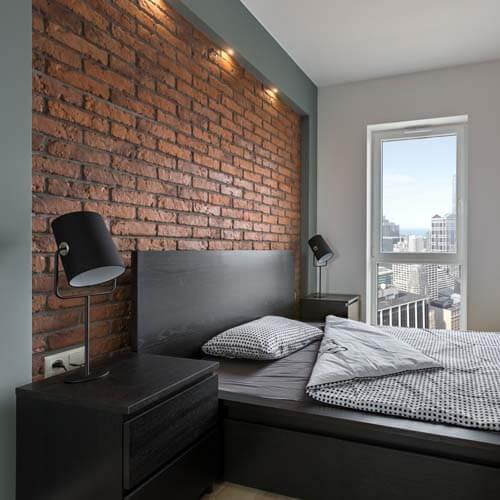 Camera da letto in stile rock