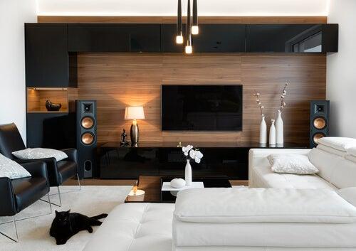 Casa moderna e distribuzione degli spazi