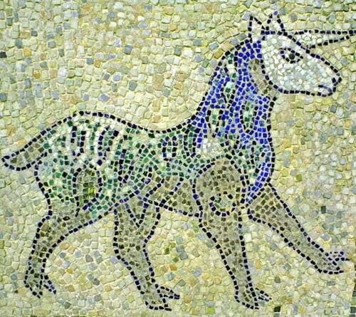 Mosaico per decorare con unicorni