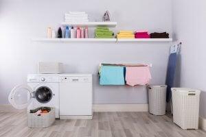 ordine dei prodotti nella lavanderia