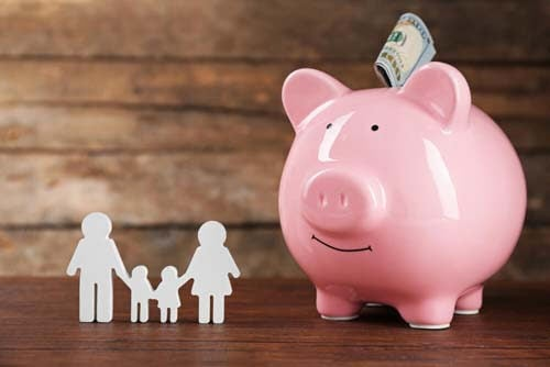 Maialino risparmio famiglia