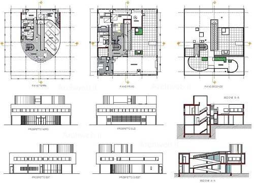 Planimetrie di Villa Savoye