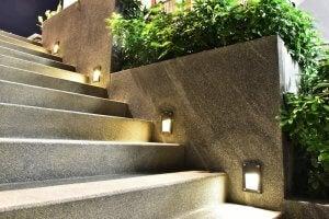 le piante decorative nelle scale