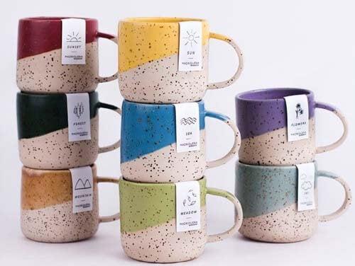 Tazzine da caffè in ceramica artigianale