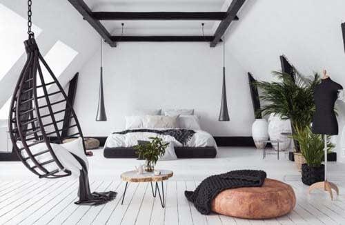 Come decorare la soffitta in modo fresco e naturale