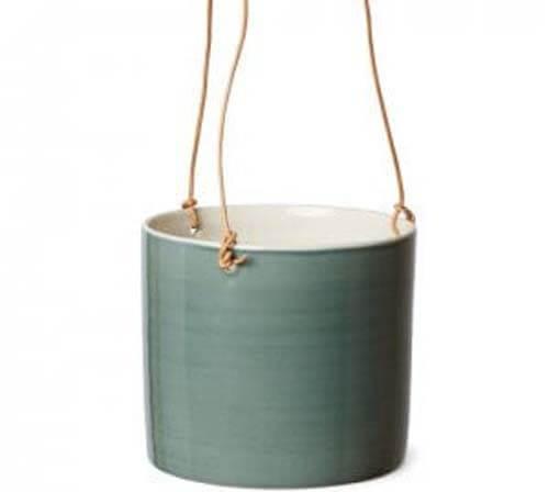 Vaso sospeso in ceramica artigianale