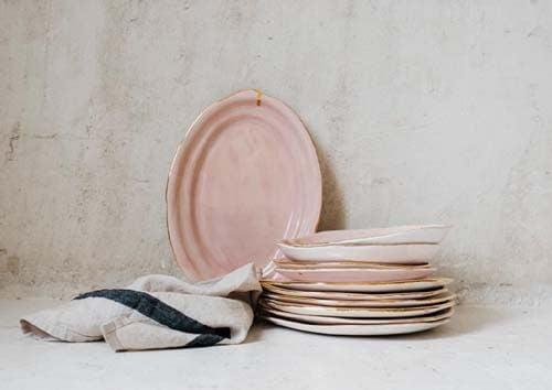 Vassoi in ceramica artigianale