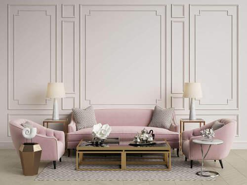 Salotto rosa antico