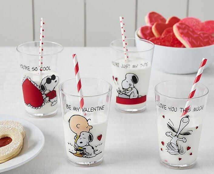 Bicchieri per fan di Snoopy