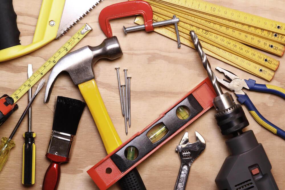 Attrezzi vari per la ristrutturazione
