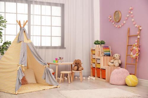 Camerette per bambini: accessori per la decorazione